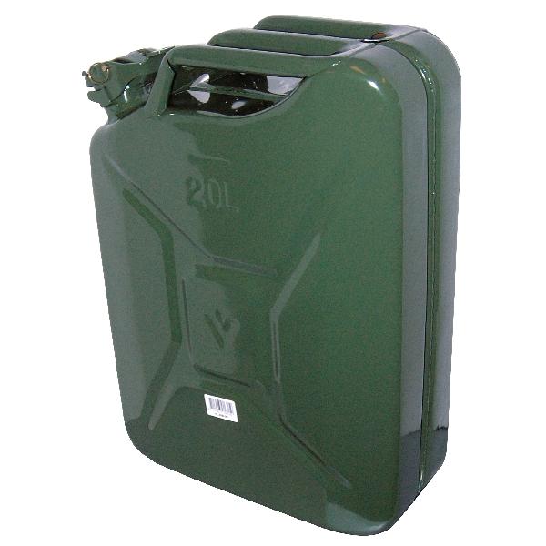 Image of Carpoint Benzinekan 20L groen metaal TUV/GS 10009 0110009_613