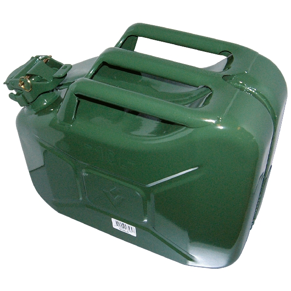 Image of Carpoint Benzinekan 10L groen metaal TUV/GS 10011