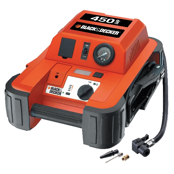 Image of Black & Decker Black&Decker BDJS450i Jumpstarter 450A met compressor 90104
