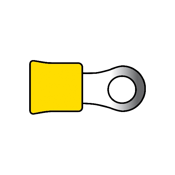 Carpoint Kabelverbinders 674 geel 10st 23830