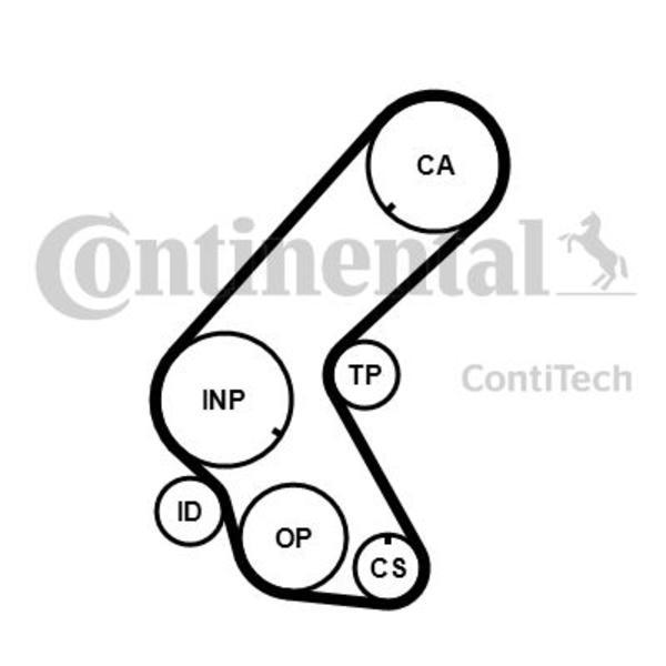 Afbeelding van Contitech Distributieriem CT1014