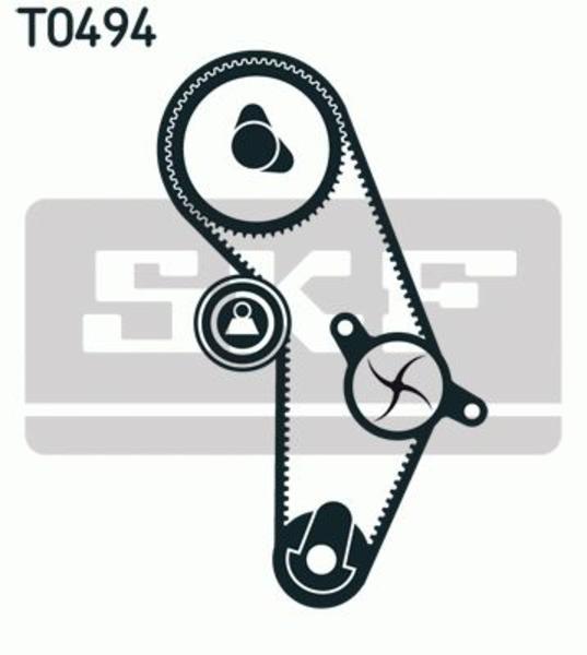 Skf Distributieriem kit incl.waterpomp VKMC 95626