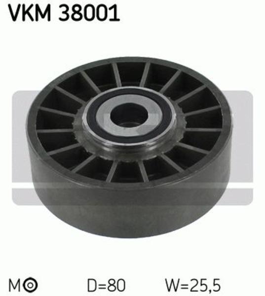 Skf Spanrol (poly) V-riem VKM 38001