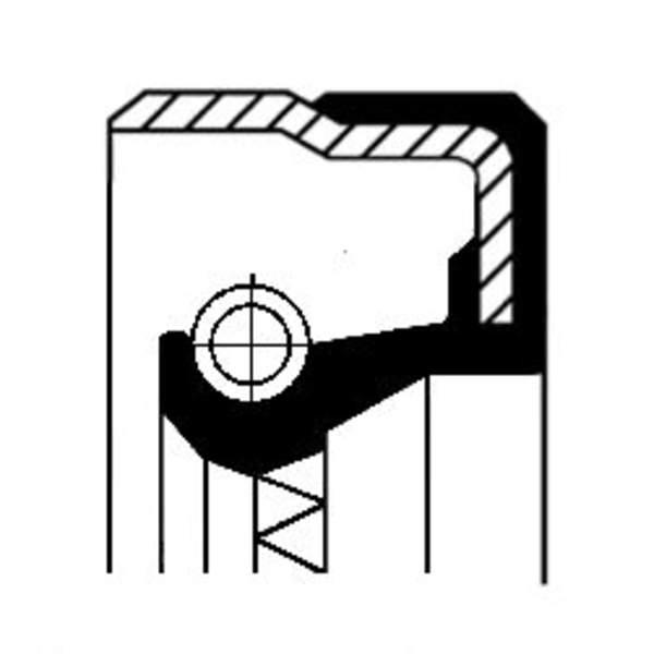 Image of Corteco Differentieel keerring 01019286B 01019286b_271