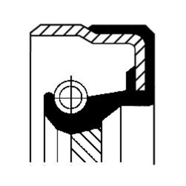 Image of Corteco Differentieel keerring / Schakelstang keerring 01019285B 01019285b_271