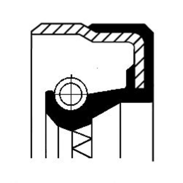Image of Corteco Differentieel keerring 01019154B 01019154b_271