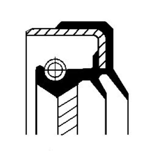 Image of Corteco Differentieel keerring 01026326B 01026326b_271