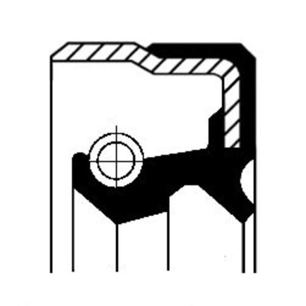 Image of Corteco Differentieel keerring / Wielnaaf keerring 01026325B 01026325b_271