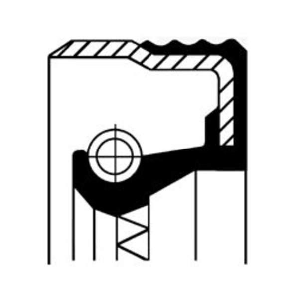Image of Corteco Differentieel keerring / Krukaskeerring / Nokkenas keerring / Oliepomphuis keerring / Tussenaskeerring 12012709B 12012709b_271