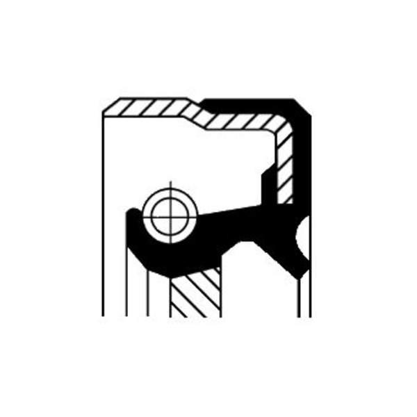 Image of Corteco Autom.bak keerring / Differentieel keerring 01019150B 01019150b_271
