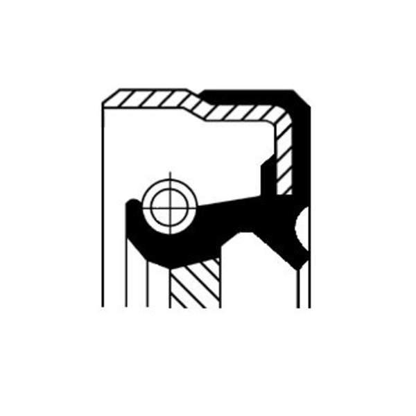 Image of Corteco Autom.bak keerring / Differentieel keerring / Schakelstang keerring 01030363B 01030363b_271