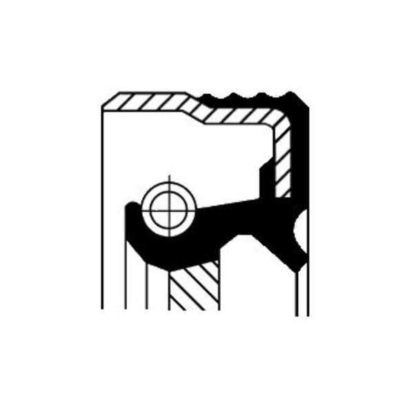 Image of Corteco Differentieel keerring / Krukaskeerring / Schakelstang keerring 12014523B 12014523b_271