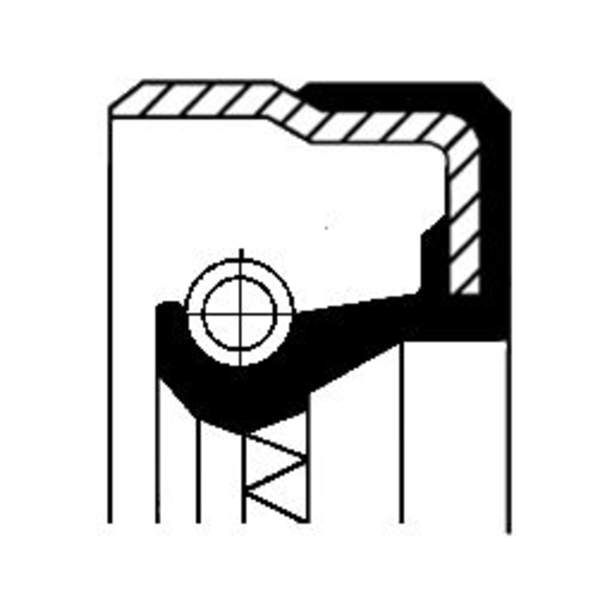 Image of Corteco Differentieel keerring / Schakelstang keerring 01034065B 01034065b_271