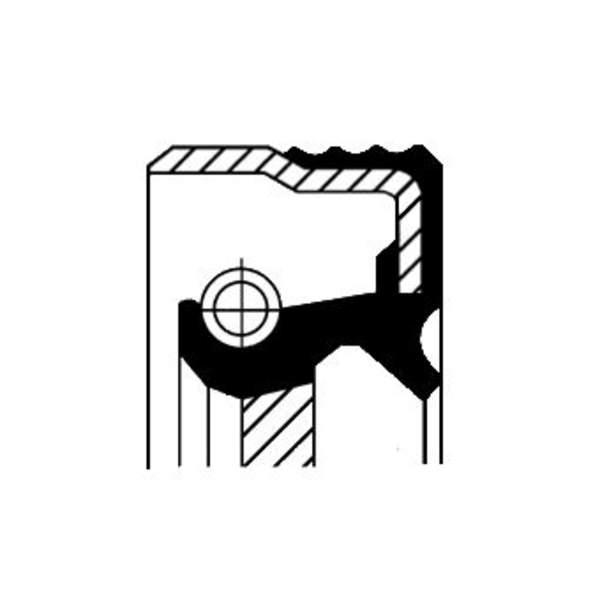 Image of Corteco Airco compressor afdichtring / Krukaskeerring / Nokkenas keerring 12015120B 12015120b_271