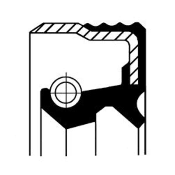 Image of Corteco Differentieel keerring / Wielnaaf keerring 12012242B 12012242b_271