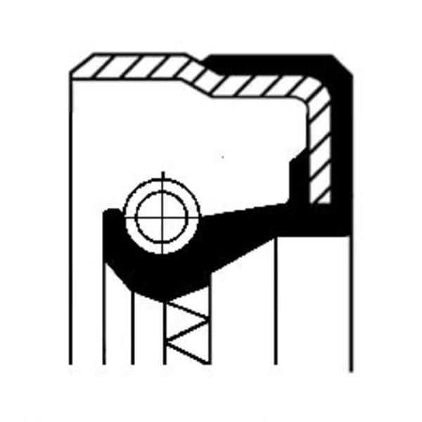 Image of Corteco Autom.bak keerring / Differentieel keerring / Schakelstang keerring 01031879B 01031879b_271