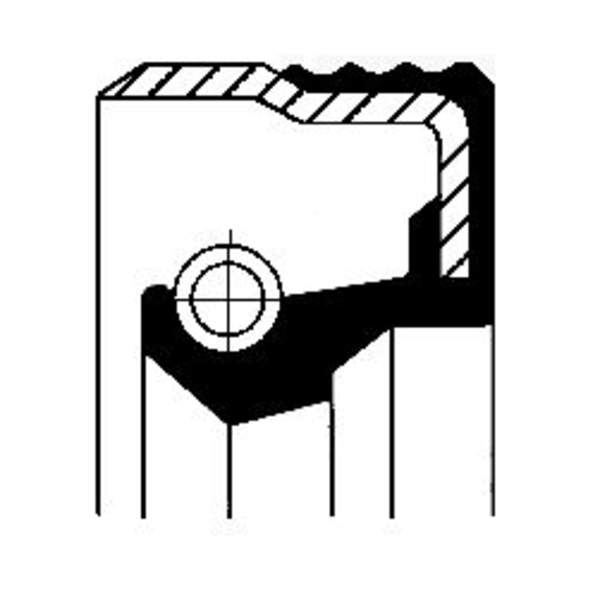 Image of Corteco Brandstofpomp onderdeel 12019585B 12019585b_271
