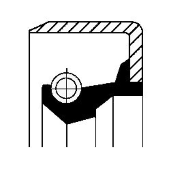 Image of Corteco Differentieel keerring / Wielnaaf keerring 12011494B 12011494b_271