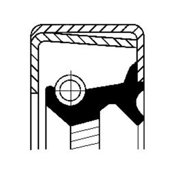 Image of Corteco Autom.bak keerring / Schakelstang keerring 12014316B 12014316b_271