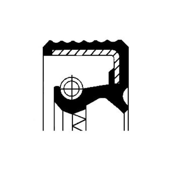 Image of Corteco Autom.bak keerring / Differentieel keerring / Schakelstang keerring 01034076B 01034076b_271