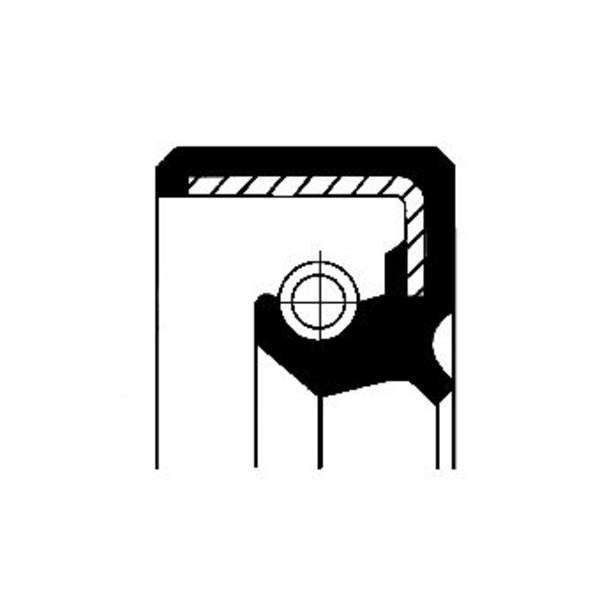 Image of Corteco Differentieel keerring / Wielnaaf keerring 12011522B 12011522b_271