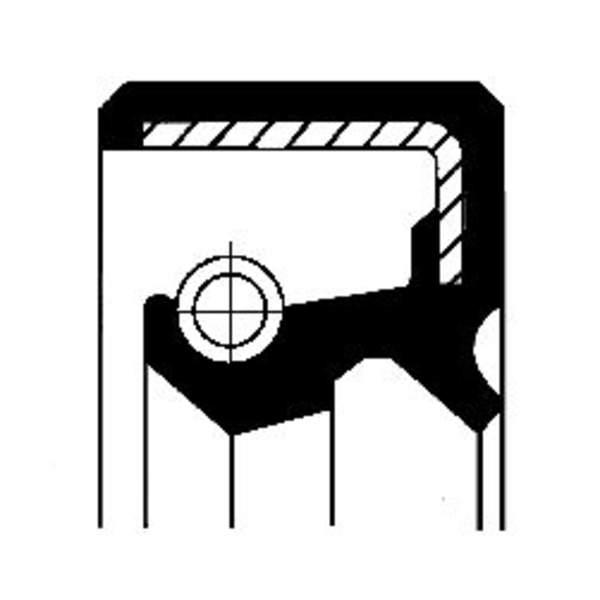 Image of Corteco Aandrijving tachometer afdichtring / Schakelstang keerring 07033419B 07033419b_271