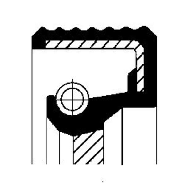 Image of Corteco Differentieel keerring / Krukaskeerring / Schakelstang keerring 12013046B 12013046b_271