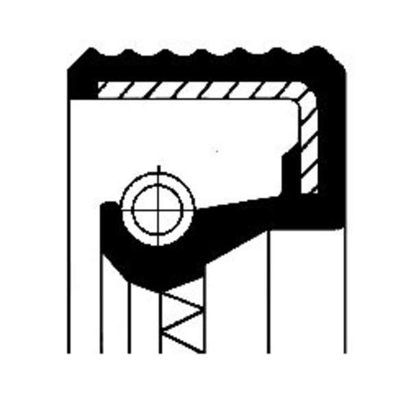 Image of Corteco Differentieel keerring 01019449B 01019449b_271