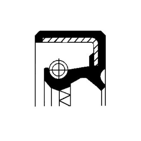 Image of Corteco Differentieel keerring / Krukaskeerring / Nokkenas keerring 12011547B 12011547b_271