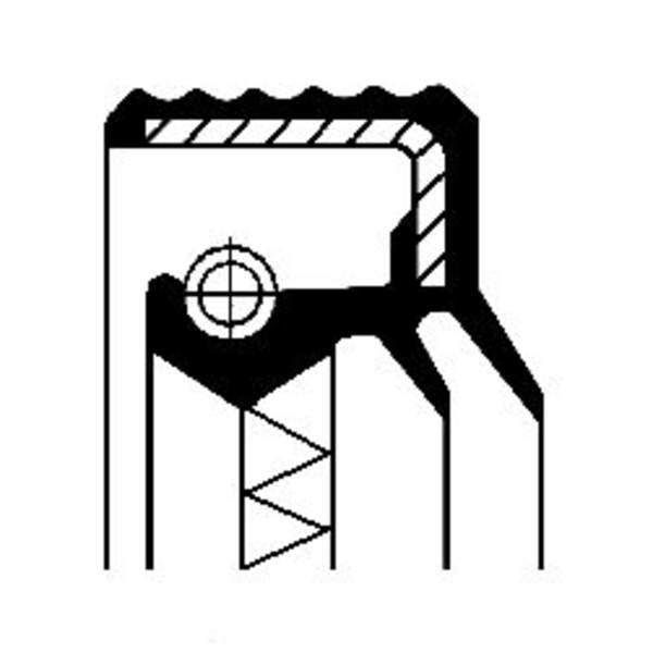 Image of Corteco Differentieel keerring / Wielnaaf keerring 12016928B 12016928b_271