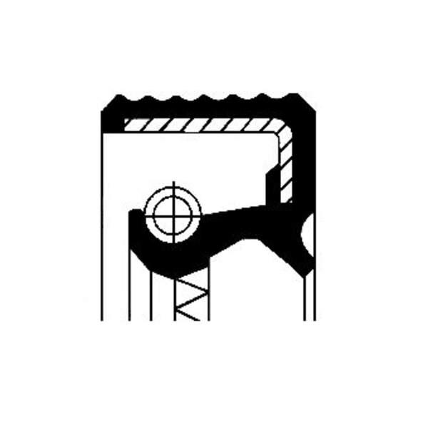 Image of Corteco Differentieel keerring / Wielnaaf keerring 12015557B 12015557b_271