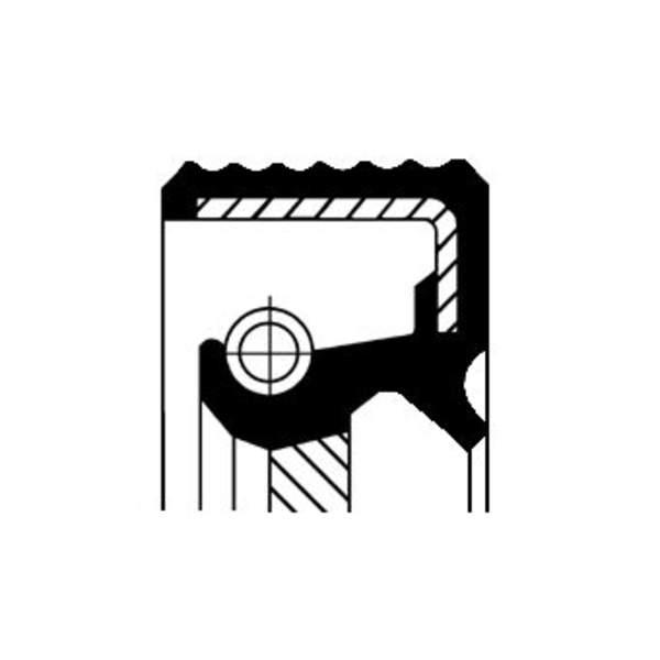 Image of Corteco Differentieel keerring 01020536B 01020536b_271