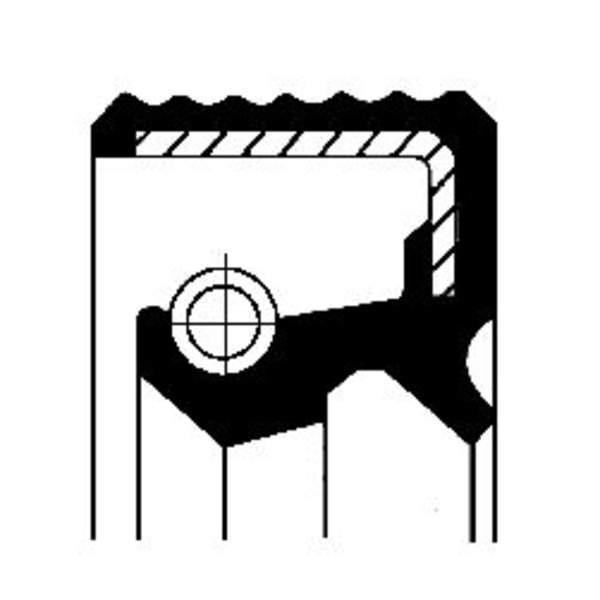 Image of Corteco Differentieel keerring / Schakelstang keerring 01019317B 01019317b_271