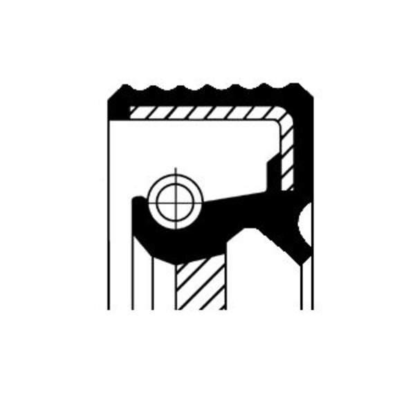Corteco Krukaskeerring / Nokkenas keerring / Oliepomphuis keerring 20019851B