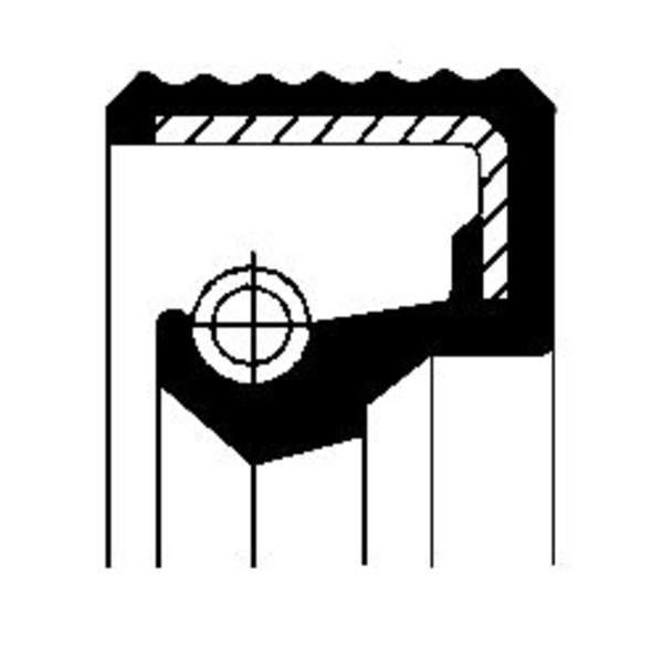 Image of Corteco Autom.bak keerring / Schakelstang keerring / Tussenaskeerring 01026502B 01026502b_271