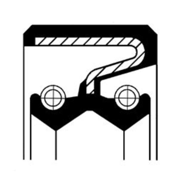 Image of Corteco Differentieel keerring / Oliepomphuis keerring 19027897B 19027897b_271