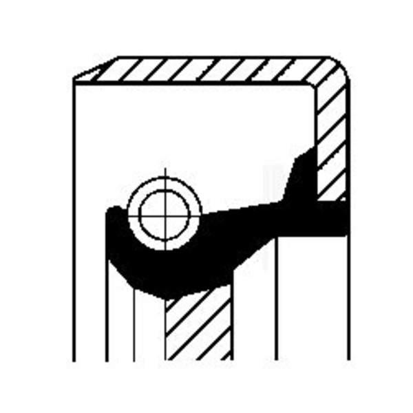 Image of Corteco Autom.bak keerring 19034056B 19034056b_271