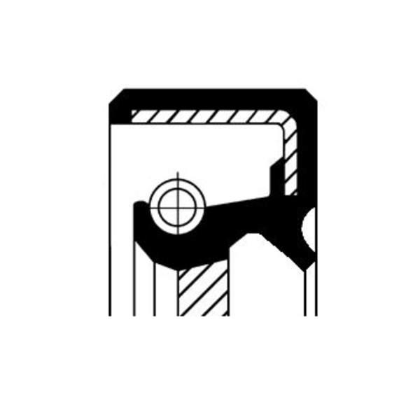 Image of Corteco Differentieel keerring / Krukaskeerring / Schakelstang keerring 19016635B 19016635b_271