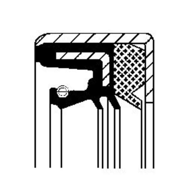 Image of Corteco Differentieel keerring 01029619B 01029619b_271