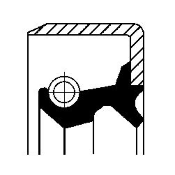 Image of Corteco Differentieel keerring / Wielnaaf keerring 19016591B 19016591b_271