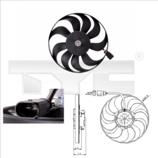 Image of Tyc Ventilatorwiel-motorkoeling 802-0001