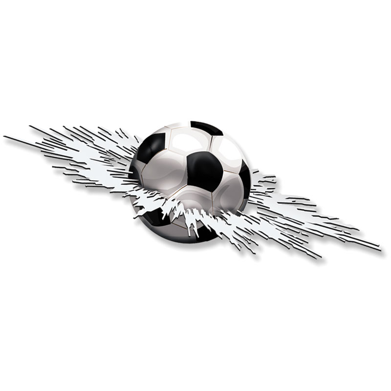 Mijnautoonderdelen Sticker Graphic Crashed Football 24 AV 102007