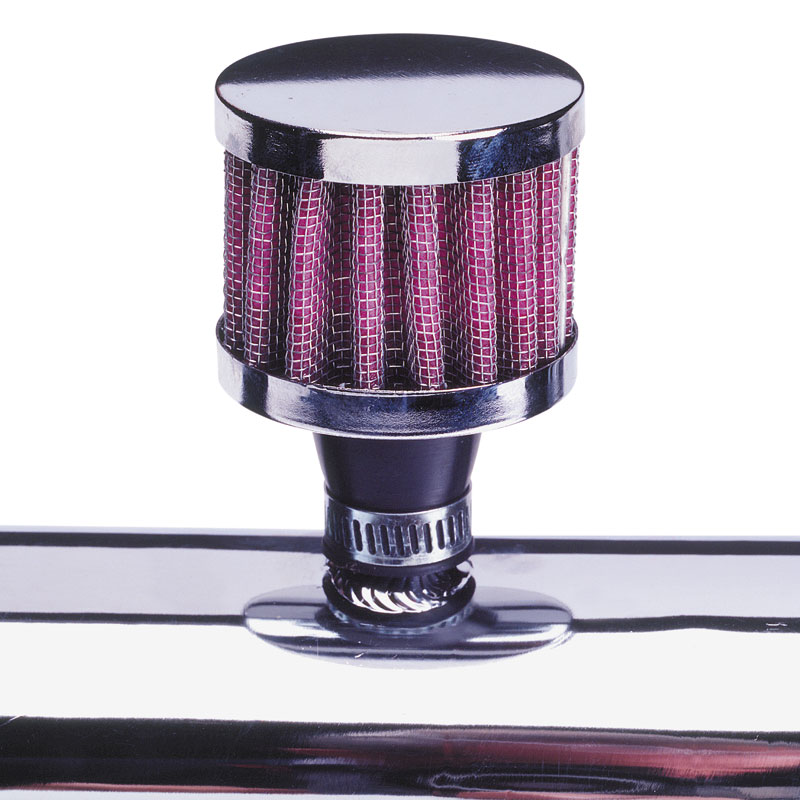 Image of Mijnautoonderdelen Breather Filter 9mm Polished DK BF09
