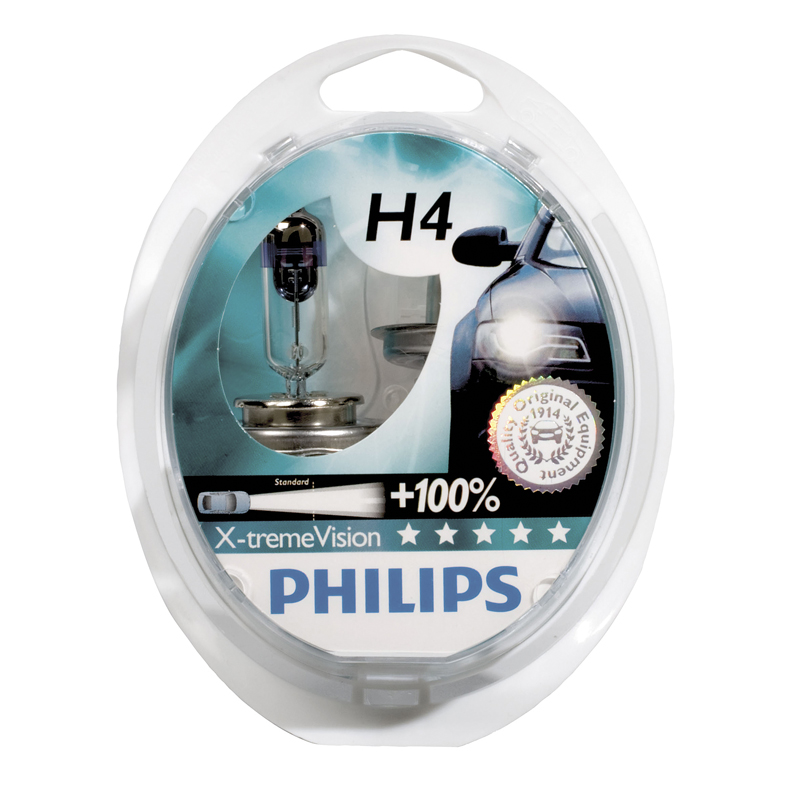 Image of Philips X-Treme Vision H4 55W/12V 2pcs PH H455X
